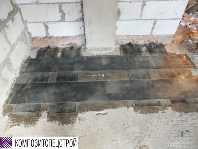 Усиление монолитных перекрытий в зонах отрицательных моментов Марьинорощинского еврейского общественного центра 7