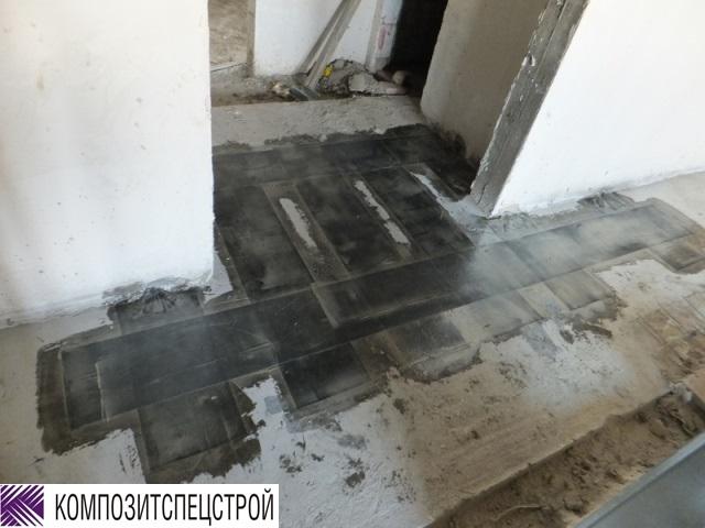 Усиление монолитных перекрытий в зонах отрицательных моментов Марьинорощинского еврейского общественного центра 8
