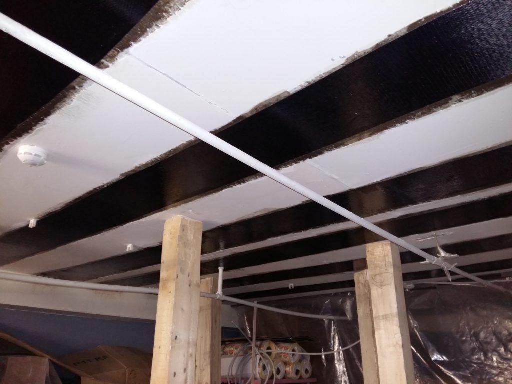 Усиление плит перекрытия композитными материалами